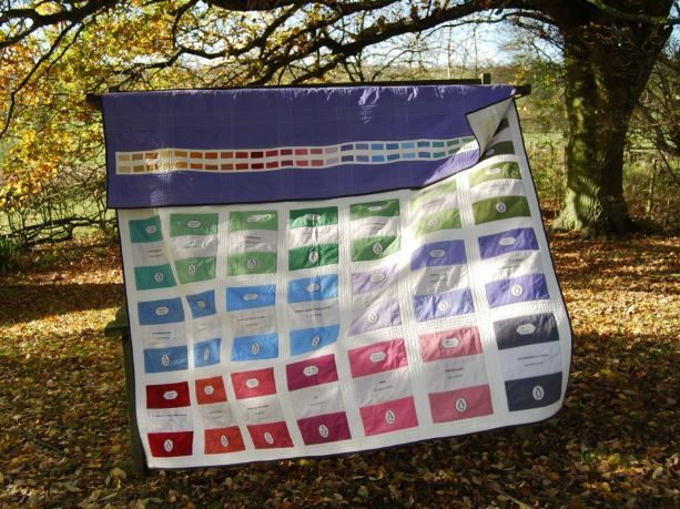 Quilt with Colorful Books, Natural Backdrop