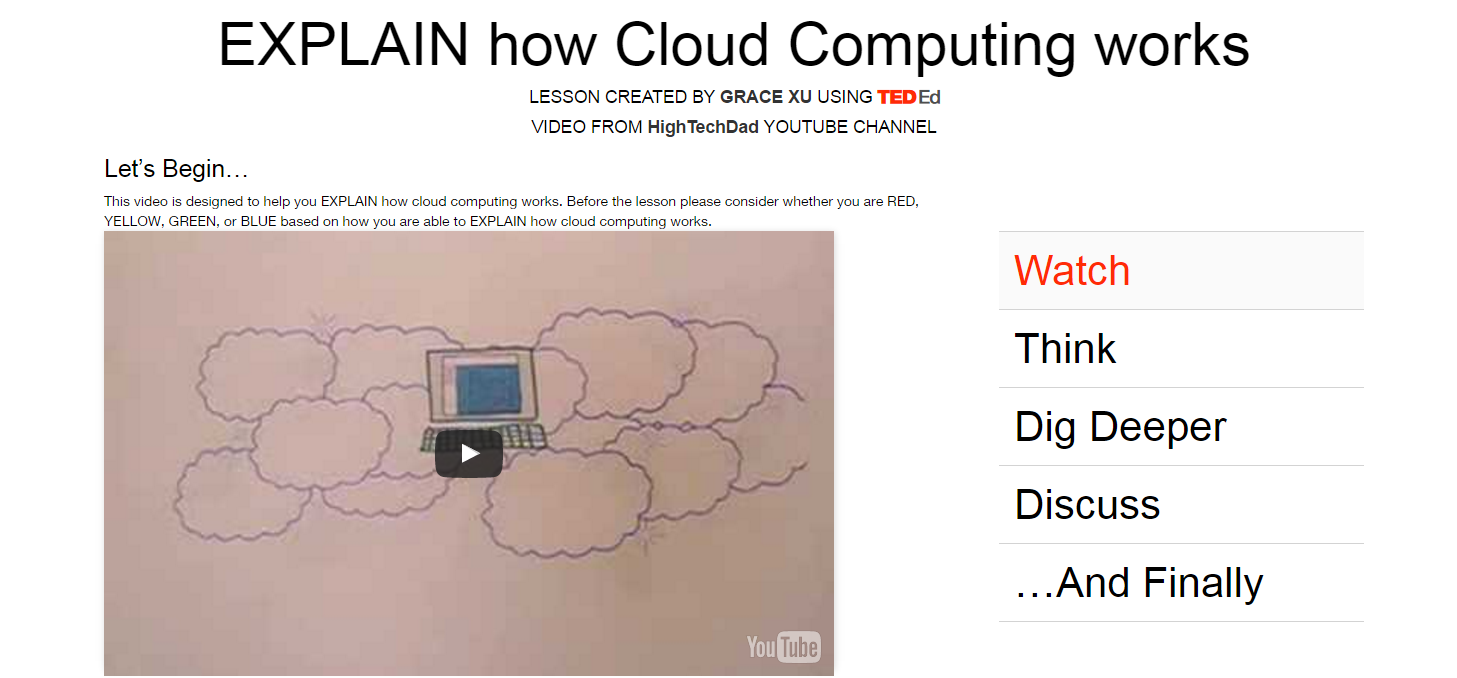 "Source: ""Cloud Computing Explained."" YouTube. YouTube, 29 Sept. 2008. Web. 17 Mar. 2017."