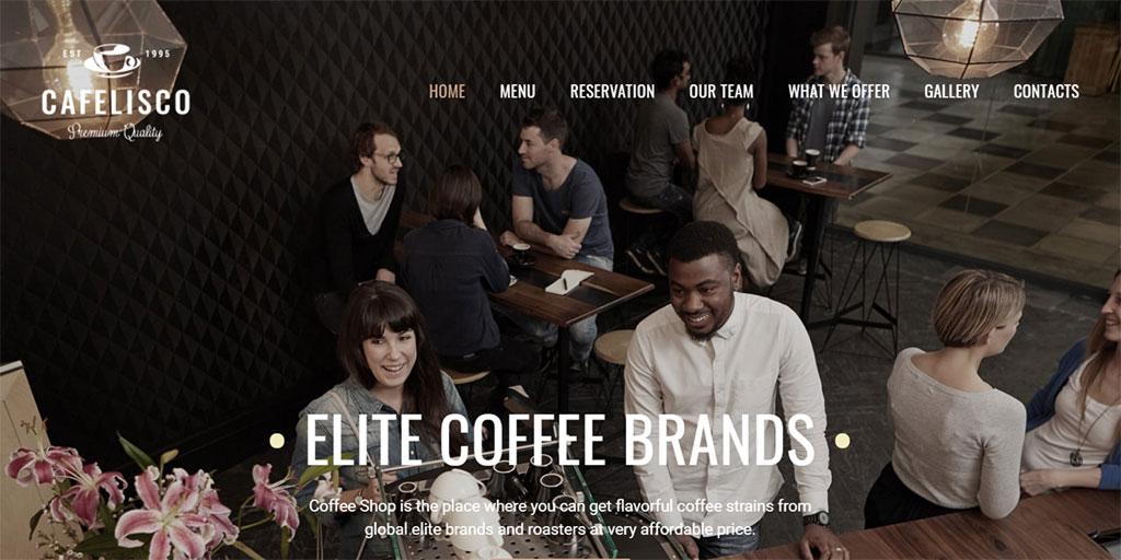 template para site responsivo cafelisco