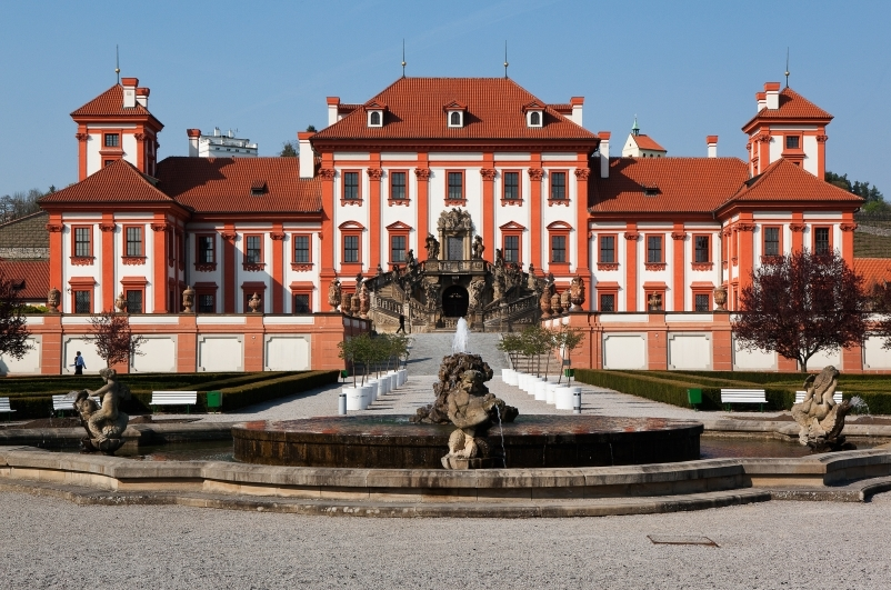 Troja chateau can be reached by the cycle path from Stromovka Park