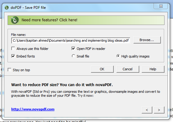 Do PDF settings