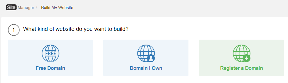 Pick a Free Domain on SiteRubix