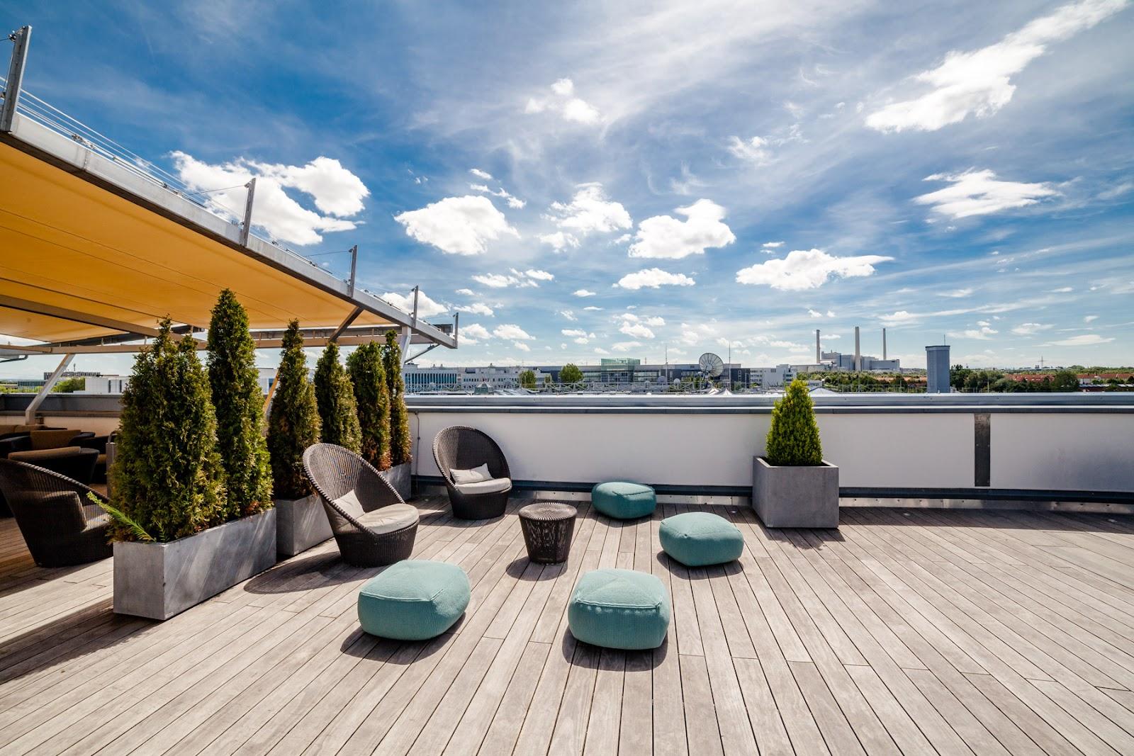 hochwertige Terrasse