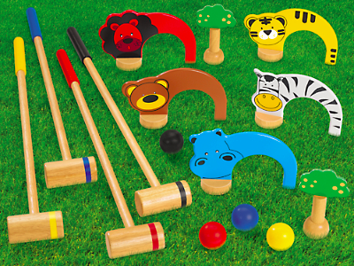 Whether you are enjoying warm sunny weather or snow this Christmas, the kids can enjoy hours of fun with this indoor/outdoor croquet set!
