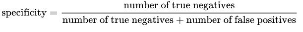 specificity formula