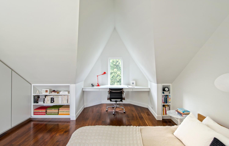 Small Office in Attic room Ideas