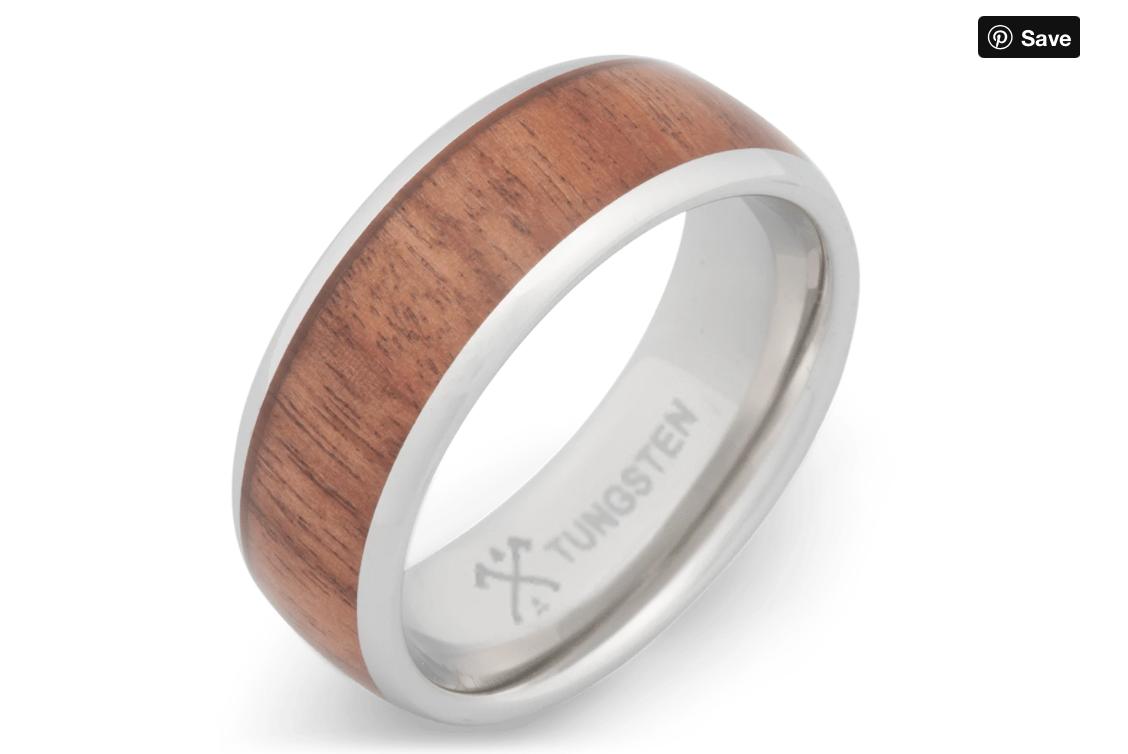 platinum plated tungsten ring