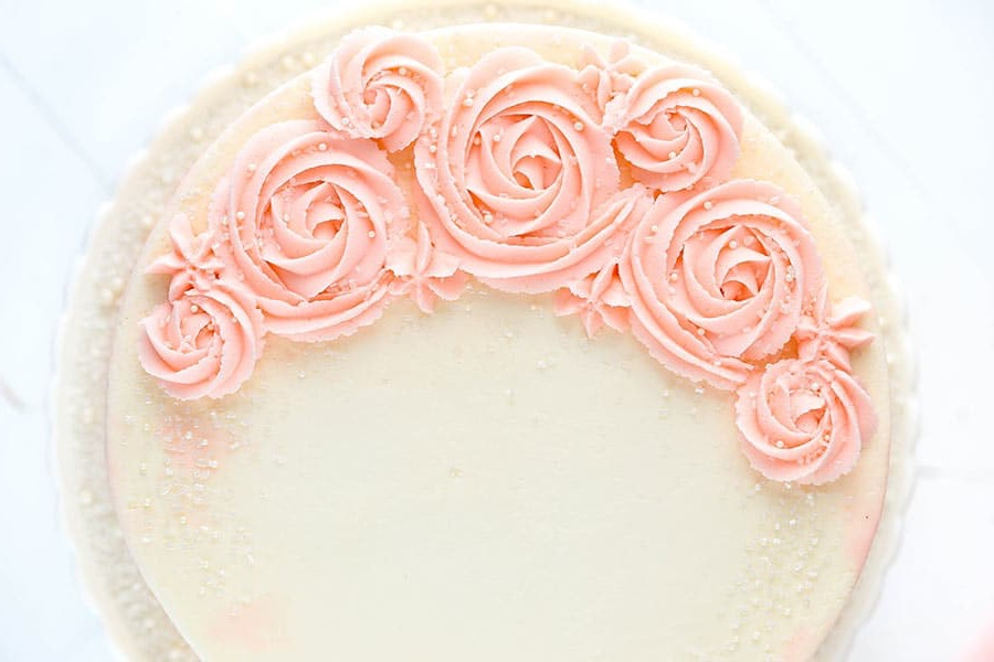 glittery rosewater cake