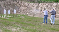 USPSA Practice at the Rifle Range
