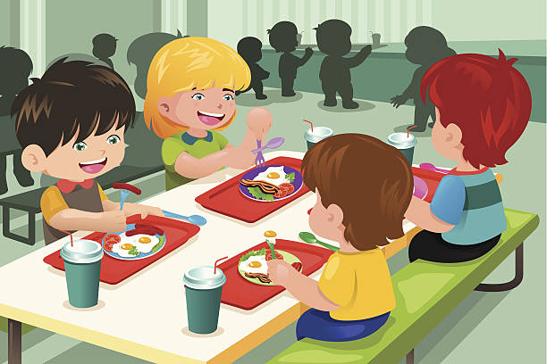 kids having their lunch together