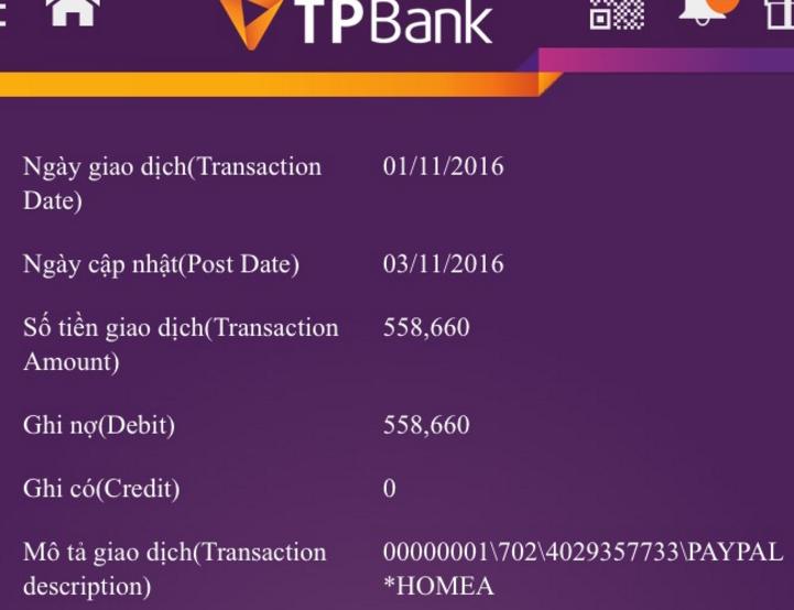 Giao dịch TPBank