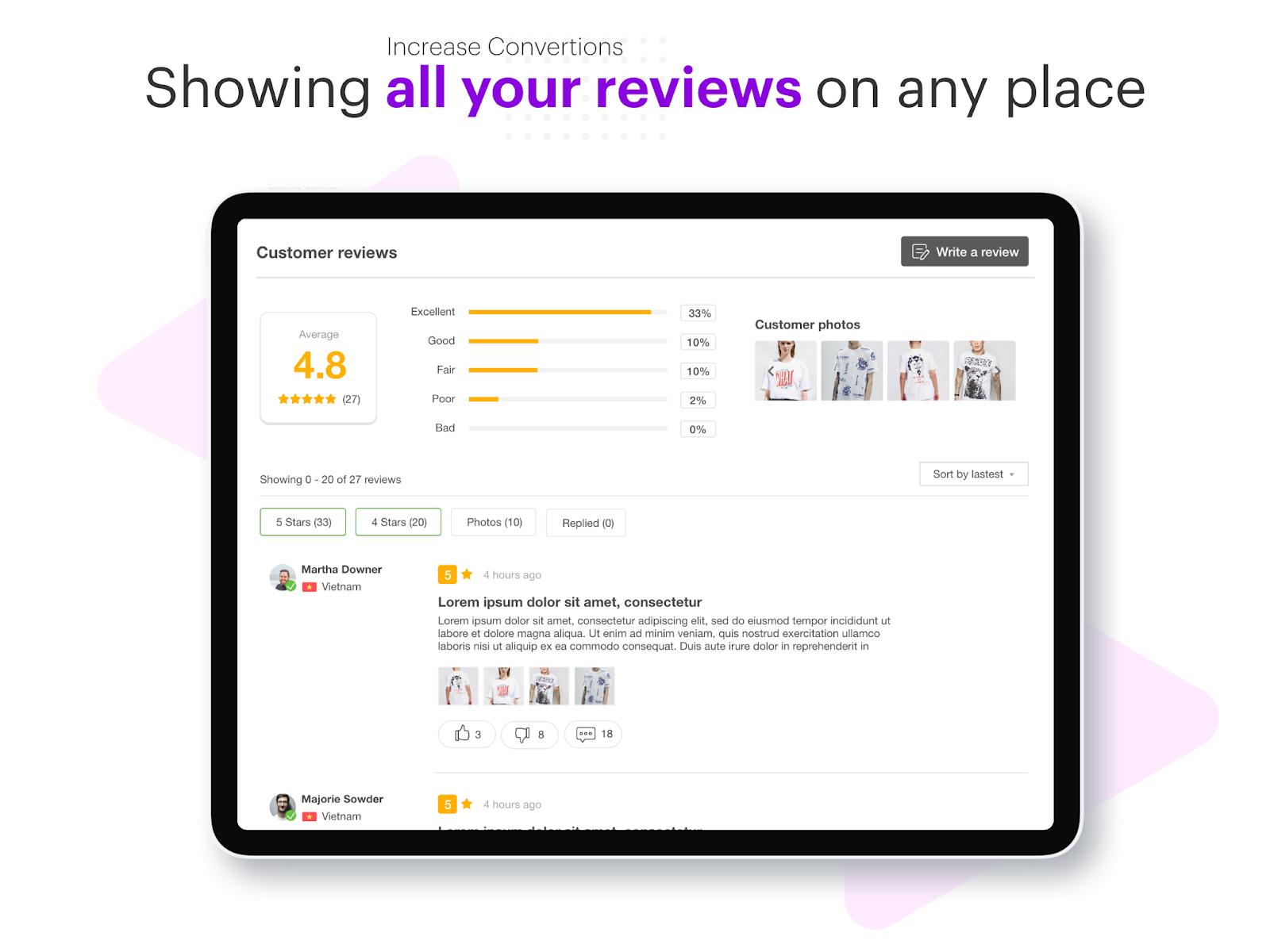 Product Reviews Widget