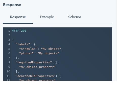 Example of successful custom object setup code