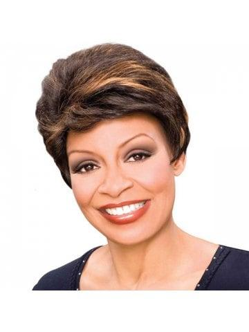 Noble Brown Mixed Synthetic Stylish Natural Straight Women's Short Wig