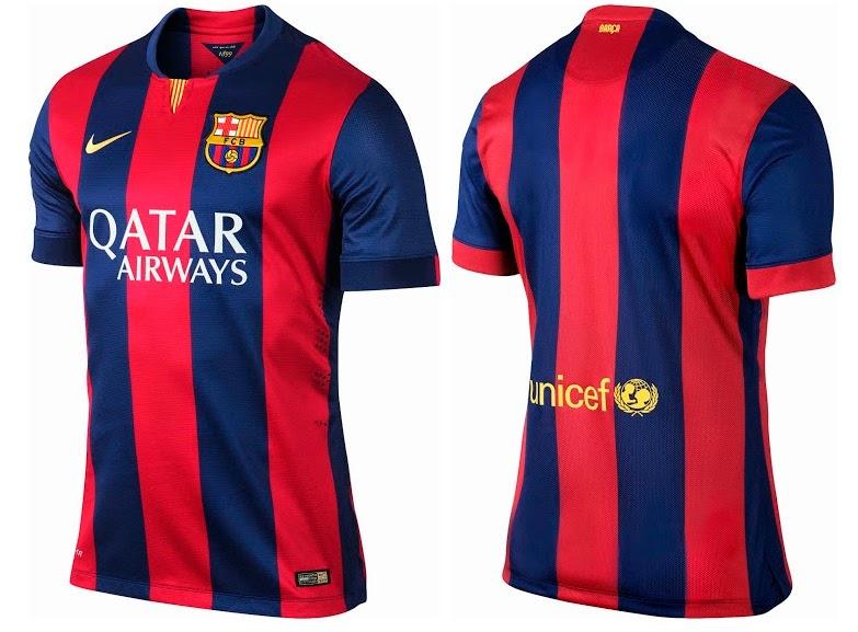 Nike FC Barcelona 2014-2015 Kits (Home Away Shirts)
