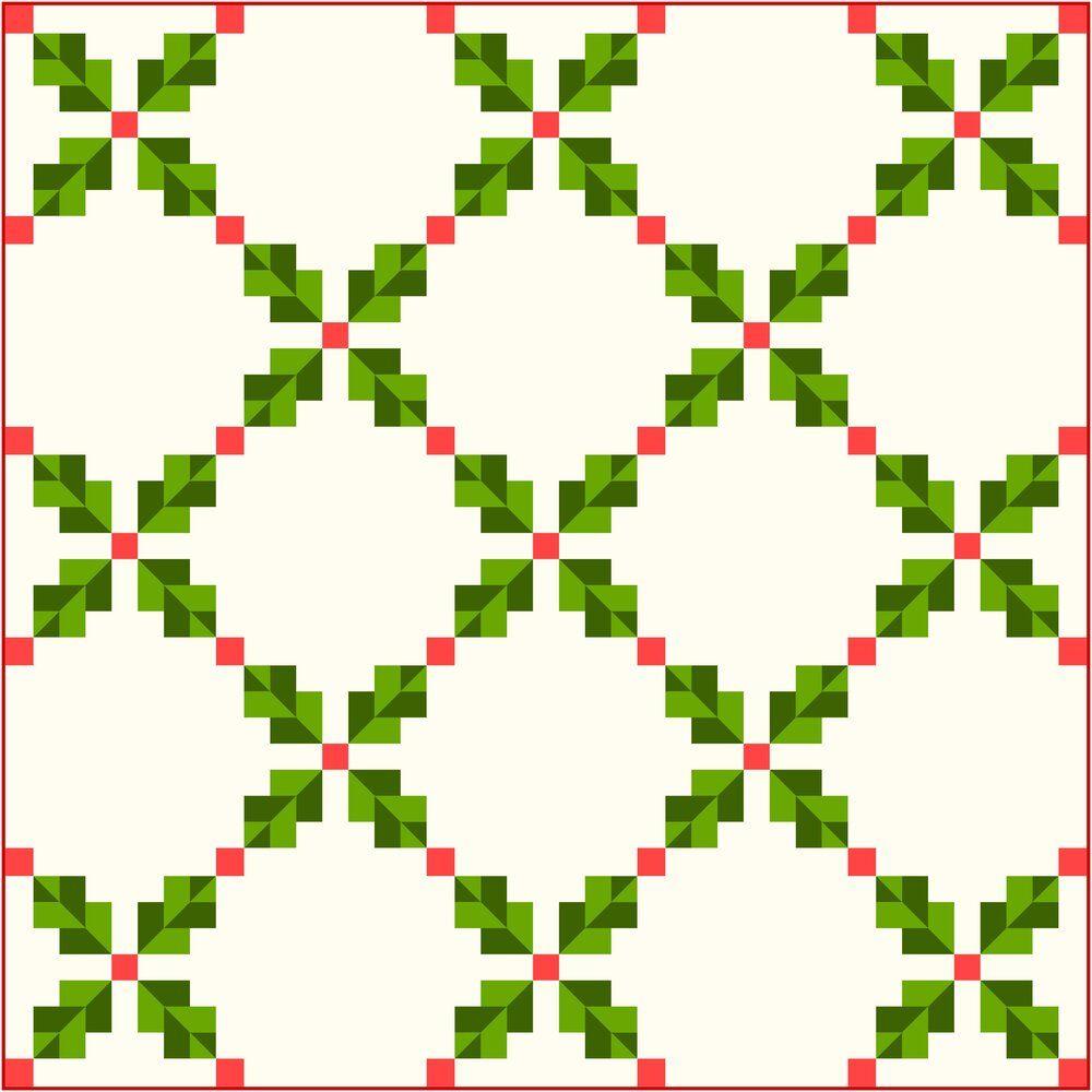 Christmas Irish Chain Quilt