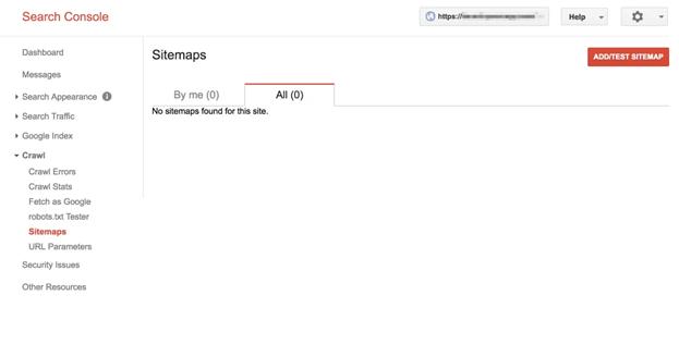 Add/Test Sitemap