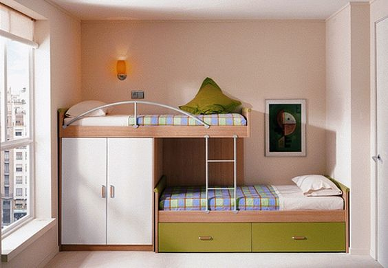 Add A Small Wardrobe Under The Top Bunk