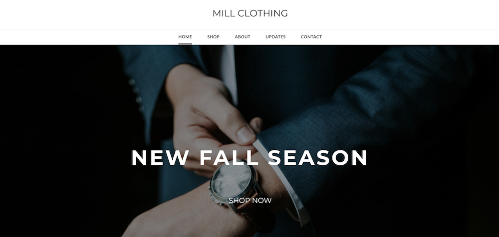 Website by Mill Clothing built with Weebly