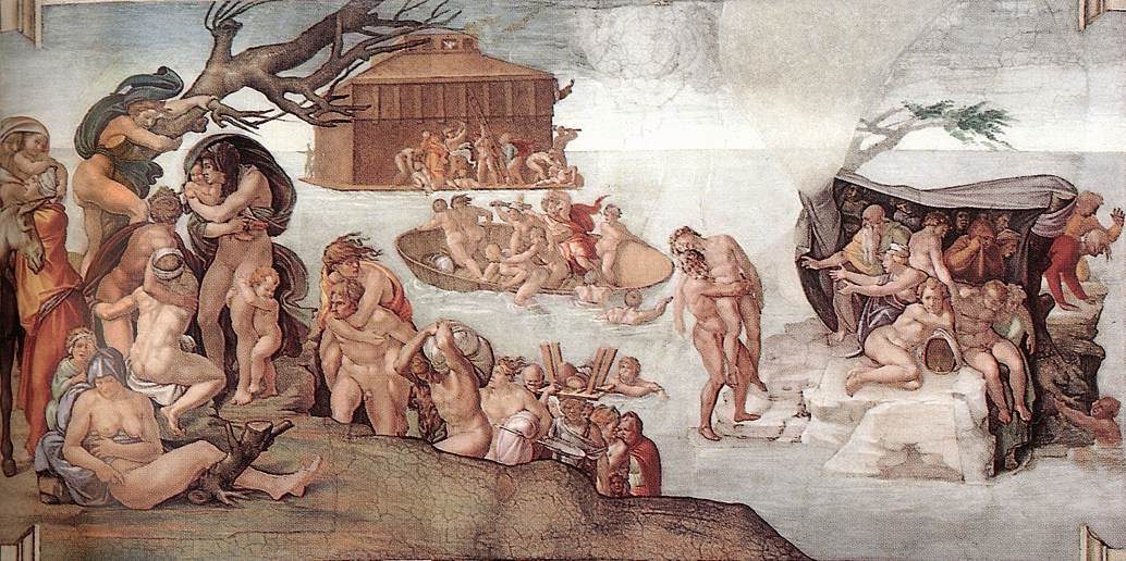 "Michelangelo, ""The Deluge"", 1508-9"