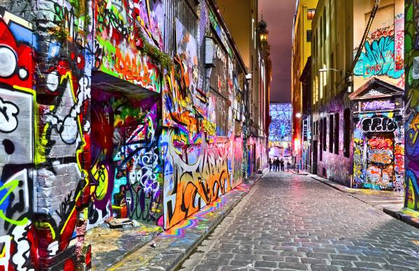 Hosier Lane, Melbourne Backpackers Guide