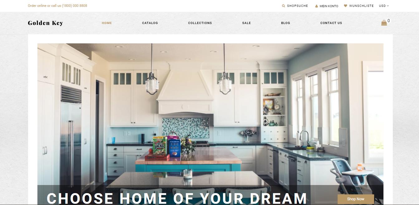 Golden key - Shopify real estate theme