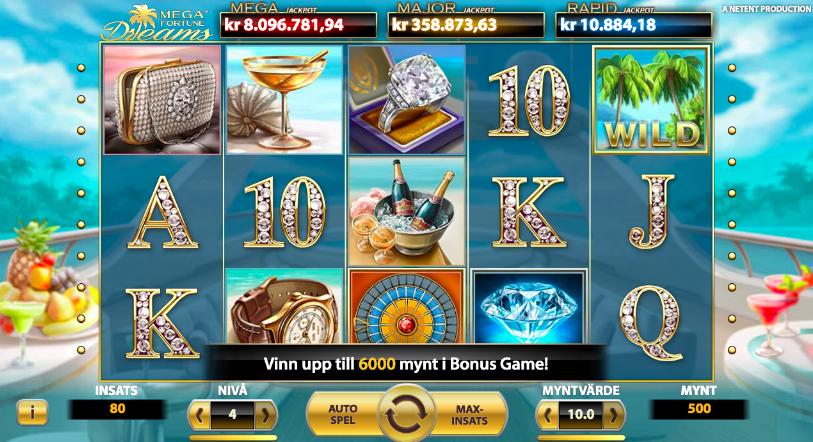 Mega Fortune Dreams Slot.