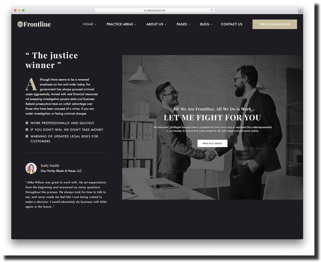 Frontline template