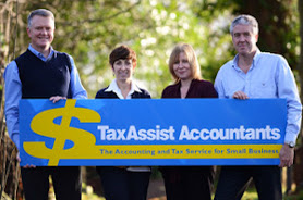 Phil Sullivan, Rina Mancini, Sarah Robertson and Karl Sandall of TaxAssist Accountants