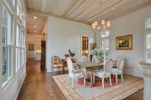 Choose a flat-fur dining room carpet