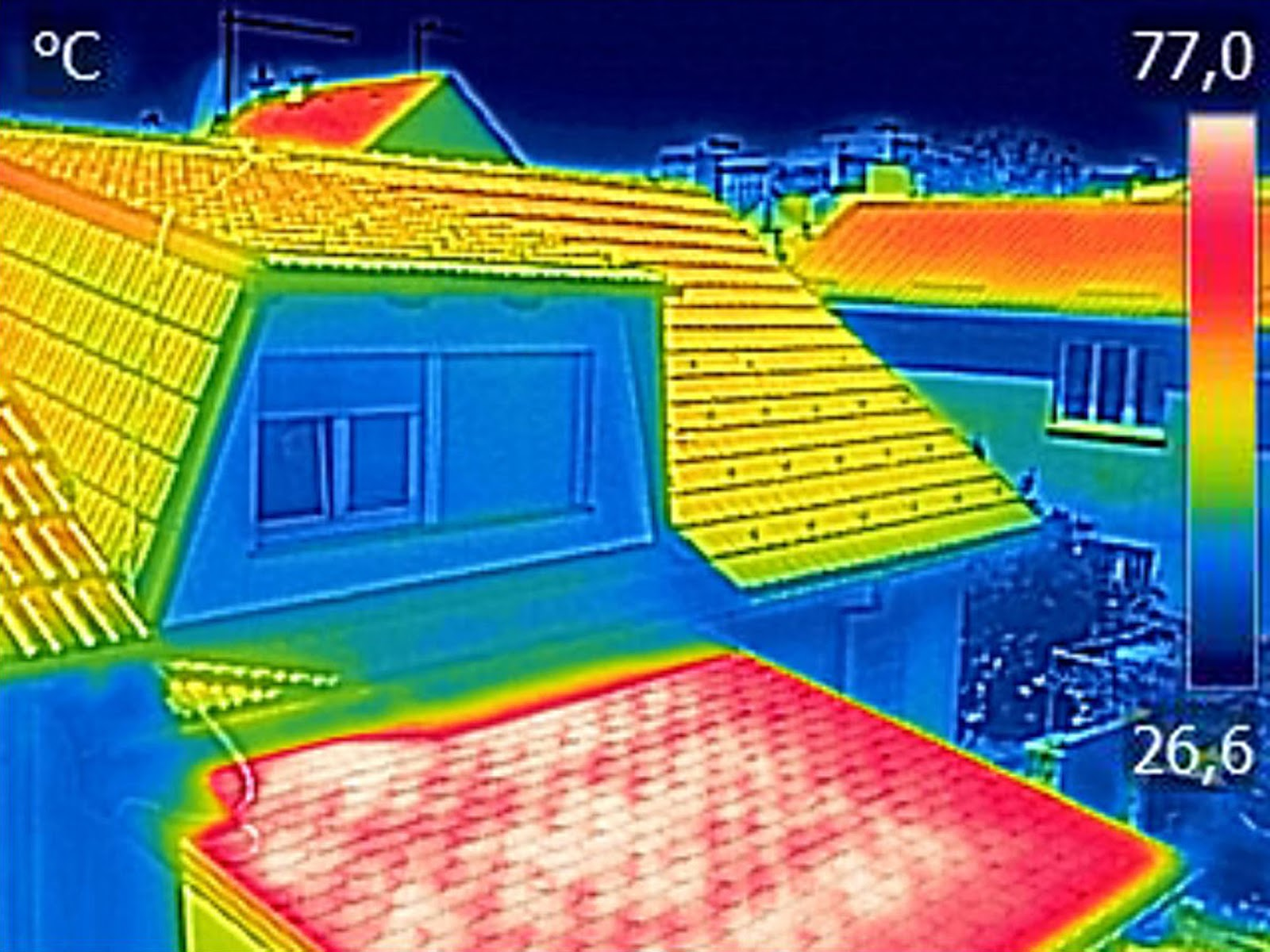 Thermal image from a home energy audit