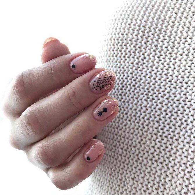 Delicate manicure for short nails 2020