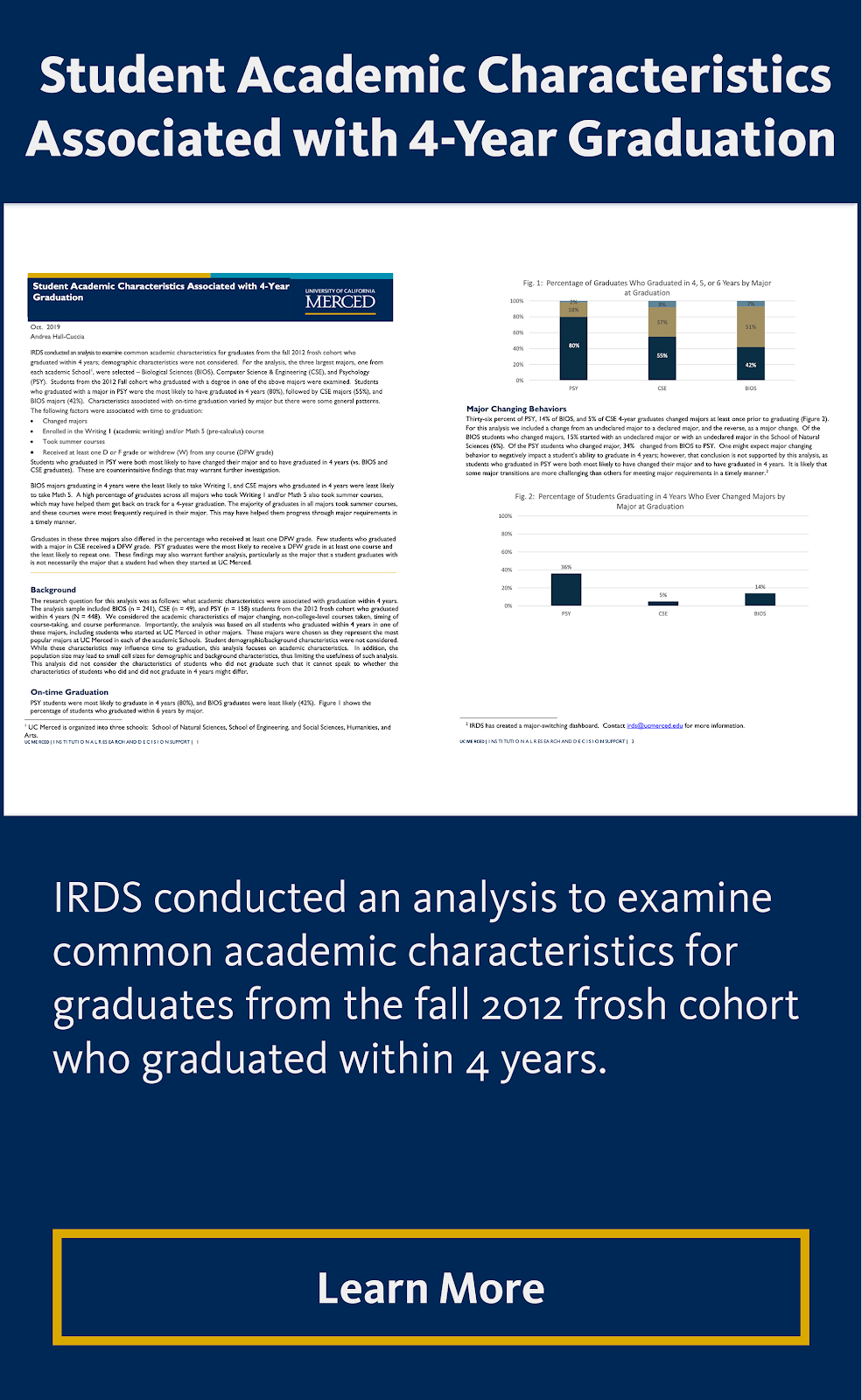 Student Academic Characteristics Associated with 4-Year Graduation
