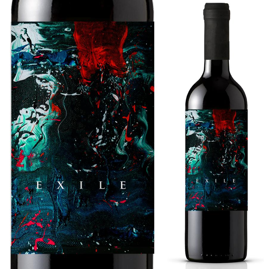 Xu hướng thiết kế bao bì mỹ thuật: Nhãn rượu phong cách vẽ thực tế