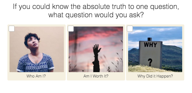 what question would you want answered question