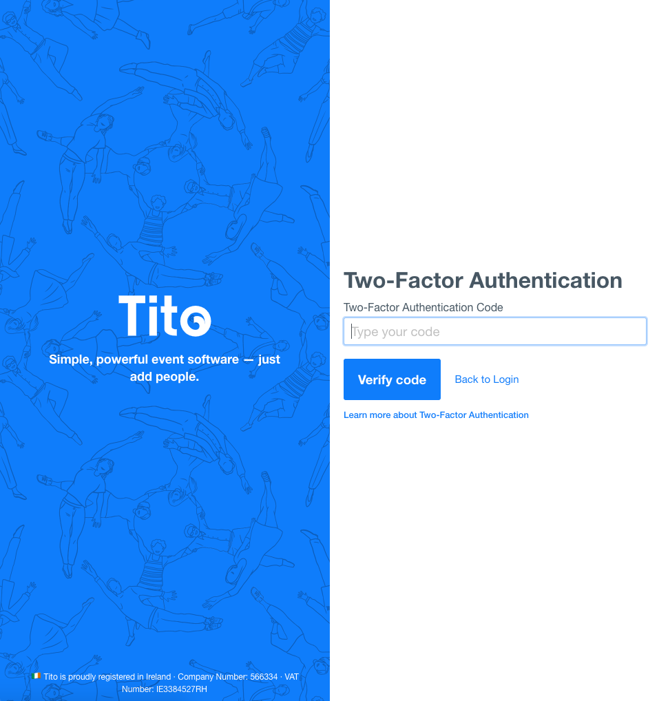 Tito Two Factor Authentication