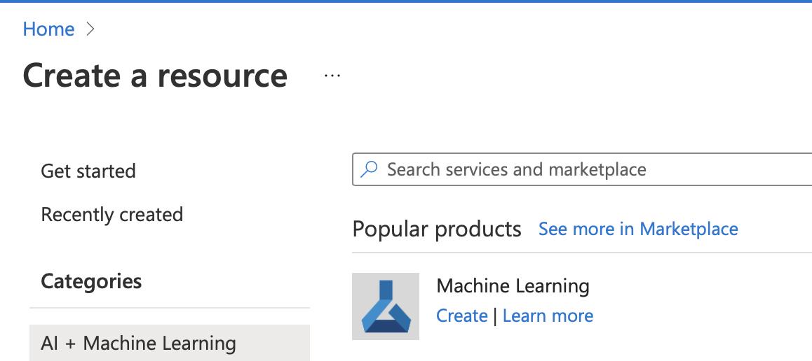 create source   azure Machine learning