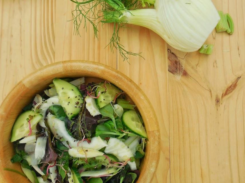 Healthy meal plan: fennel and cucumber salad #paleo #salad #yummy