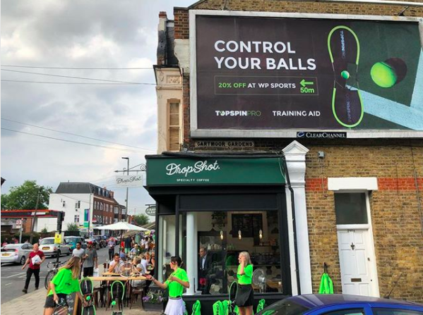 Local business Top Spin Pro used the timing of Wimbeldon to make the most of marketing their retail store.