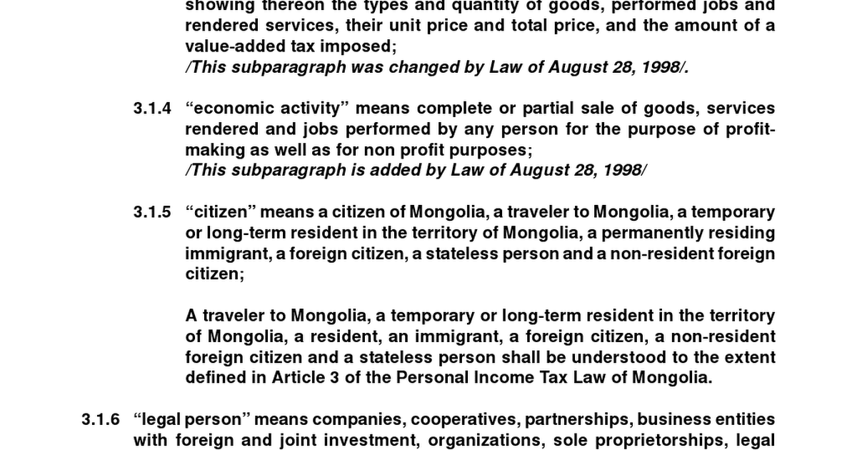 VAT Law of Mongolia pdf - Google Drive