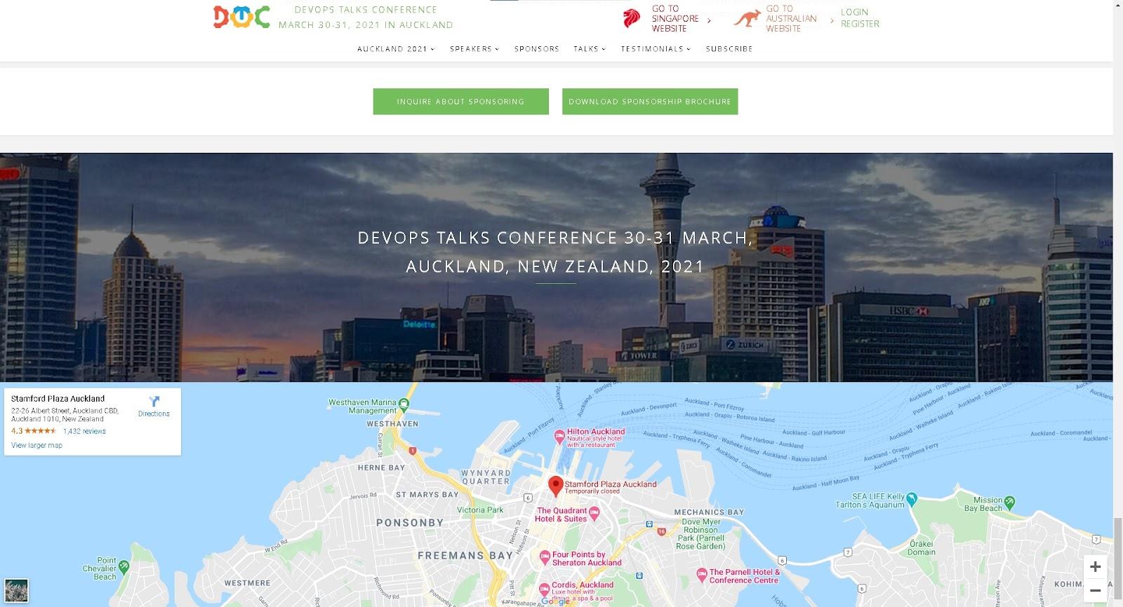 Screenshot of DevOps Seminars and events