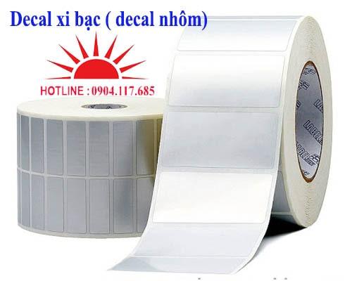 giấy decal xi bạc giá rẻ