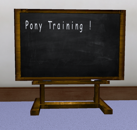 AYA BDSM Sissy maid Sactuary Class blackboard