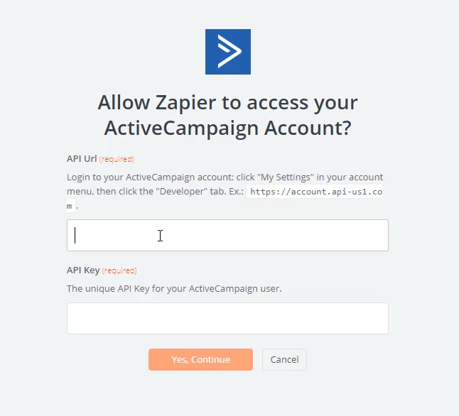connect active campaign to zapier