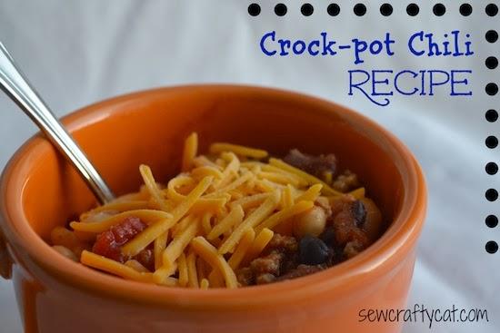 Crock Pot Chili by Sew Crafty Cat