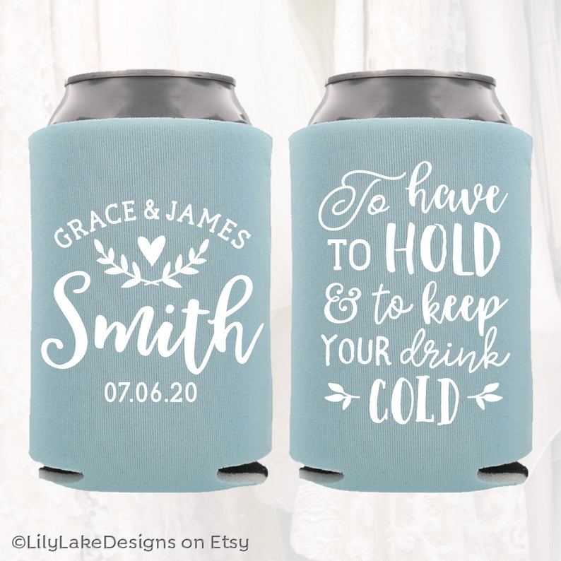 wedding favour idea  - Personalised coozies