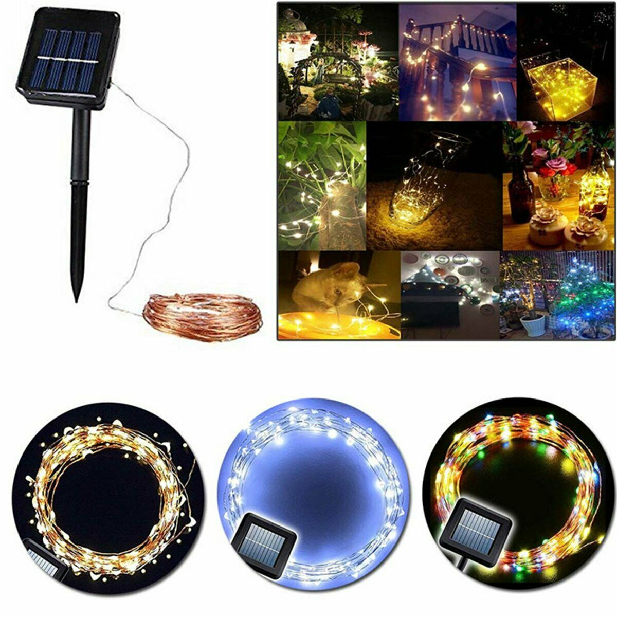 10m Outdoor Solar Lamps