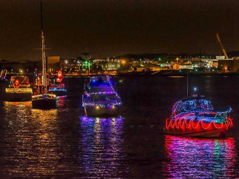 Parade of Lighted Boats - Southwest Waterfront - Washington, DC
