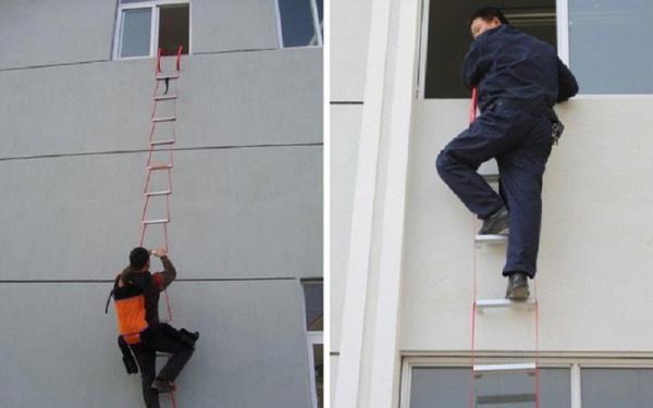 Sự nguy hiểm khi dùng thang dây thoát hiểm không đúng cách trong lúc hỏa  hoạn