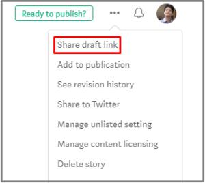 share link option